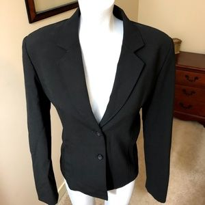 Express Women's Black 2 Button Suit Jacket Blazer